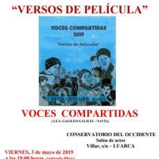 ESPECTÁCULO POÉTICO MUSICAL VOCES COMPARTIDAS: Versos de película