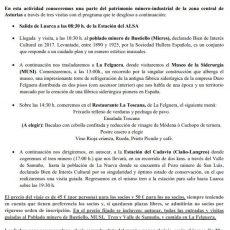 Viaje cultural a las cuencas mineras (Mieres, Bustiello, Samuño)