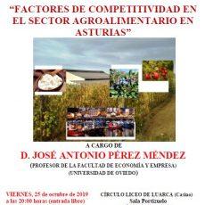 Factores de competitividad en el sector agroalimentario en Asturias.