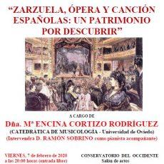 Zarzuela, ópera y canción españolas: un patrimonio por descubrir